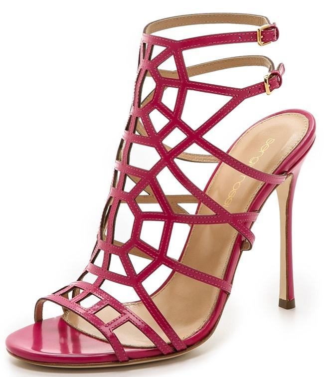"""Sergio Rossi """"Puzzle"""" Sandals in Fuchsia"""
