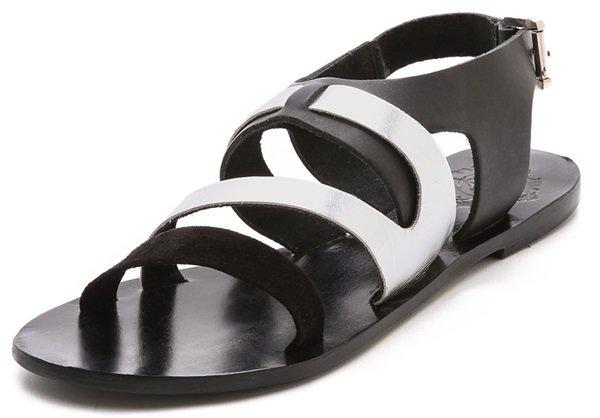 "Sol Sana ""Asha"" Cross-Strap Sandals"