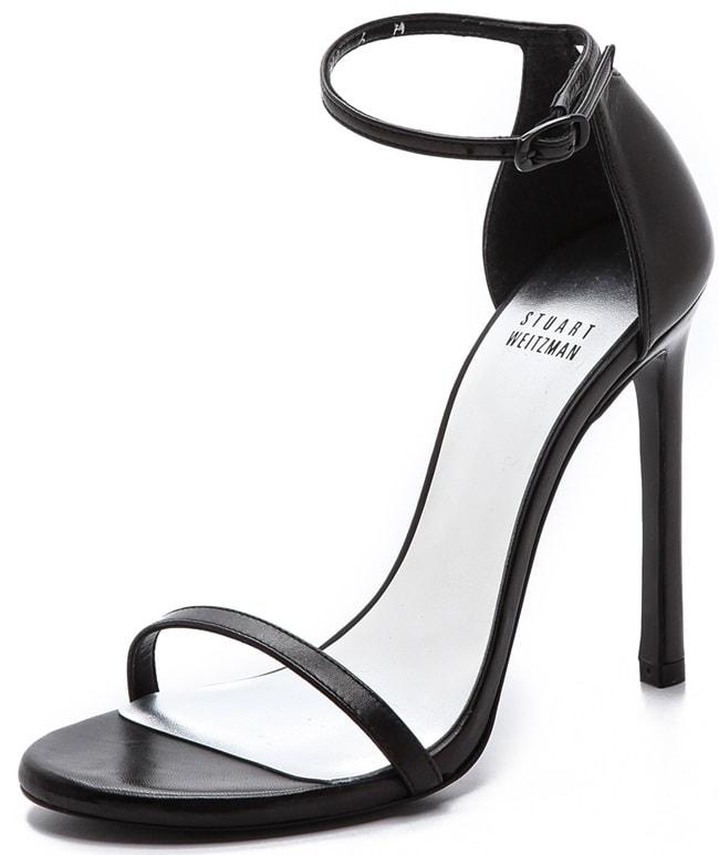 Stuart Weitzman Nudist sandals in black