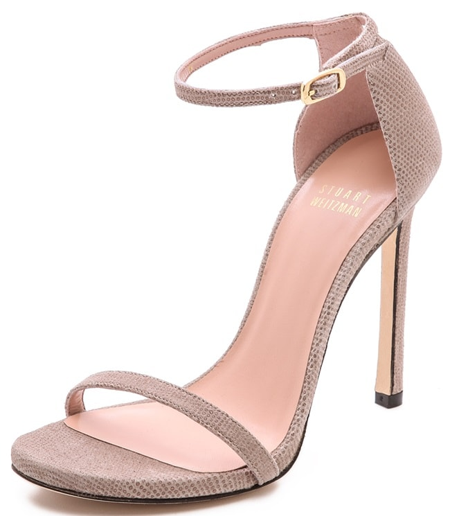 "Stuart Weitzman ""Nudist"" Sandals in Fawn"
