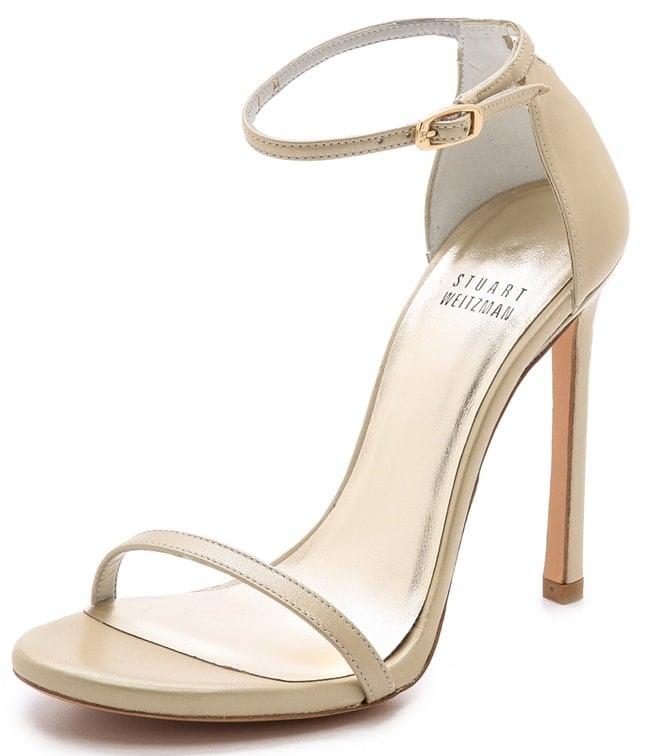 Stuart Weitzman Nudist sandals in pale gold