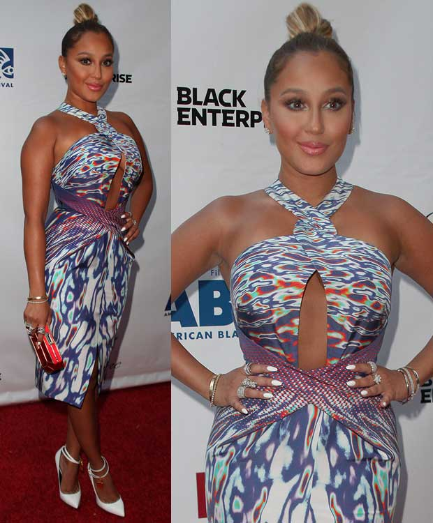 Adrienne Bailon at the 'Think Like a Man Too' premiere during the 2014 American Black Film Festival at SVA Theatre in New York City on June 19, 2014