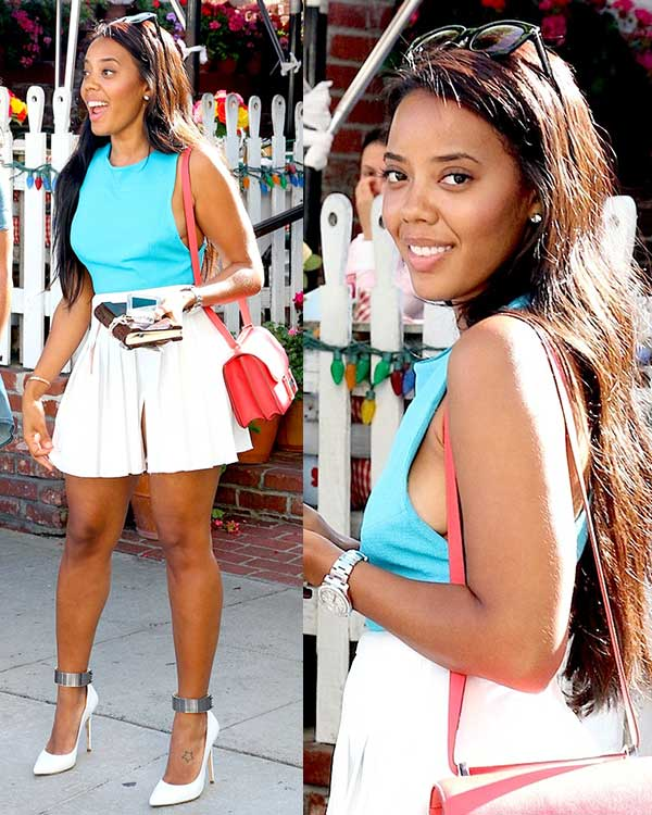 Angela Simmons at The Ivy in Robertson Boulevard, Los Angeles, on June 5, 2014