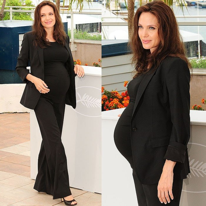 Even the usually pragmatic Angelina Jolie wore heels at one point in her pregnancy with her twins