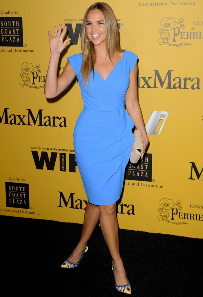 Arielle Kebbel at the 2014 Crystal + Lucy Awards held in Century City, California, on June 11, 2014