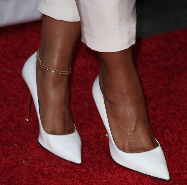 Ashanti wearing Tom Ford pumps