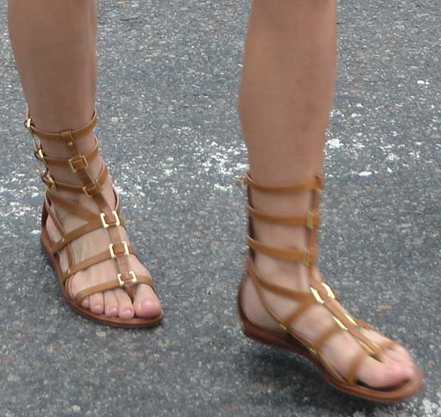 Ashley Greene's flat gladiator sandals