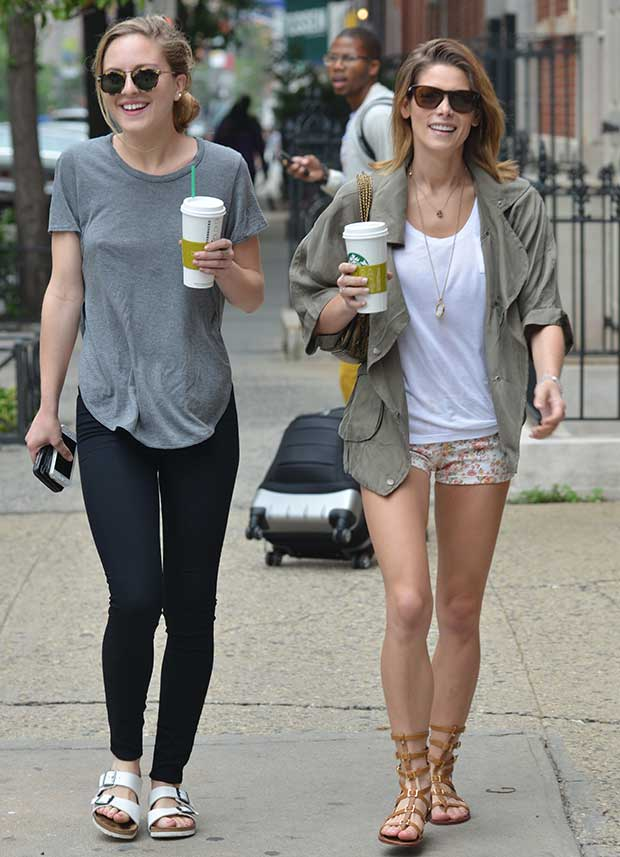 Ashley Greene out with a friend in Soho