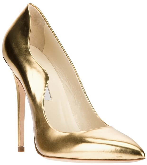 Brian Atwood Gold Besame Pump