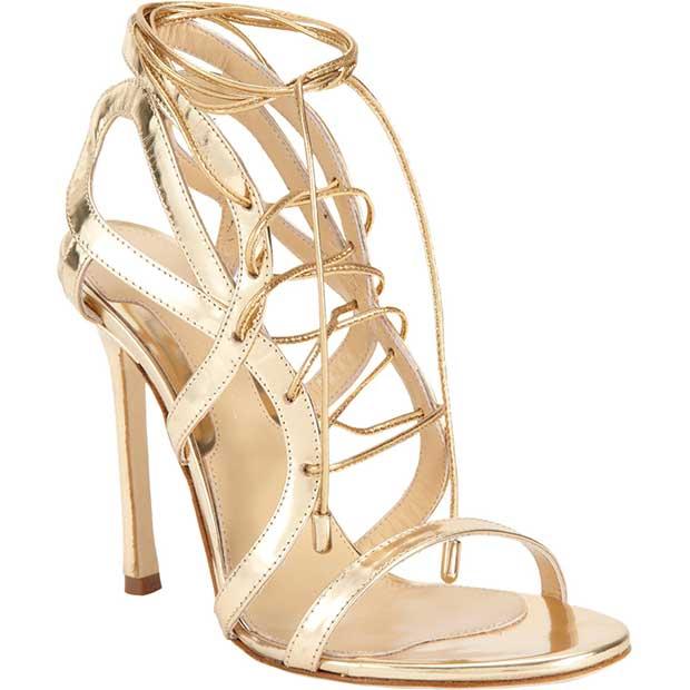 """Chelsea Paris """"Sosa"""" Sandals in Gold"""