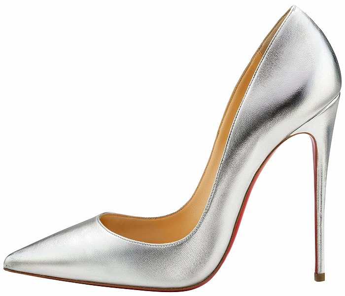Christian Louboutin So Kate pumps silver
