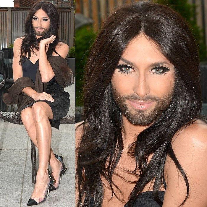 Conchita Wurst at the Dylan Hotel in Dublin, Ireland, on June 27, 2014