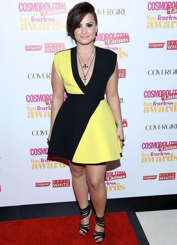 Demi Lovato at Cosmopolitan for Latina's 2014 Fun, Fearless Latina Awards held at Hearst Tower in New York City on June 4, 2014