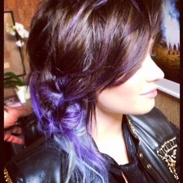 Demi's Instagram photos of her newly dyed ombre hair