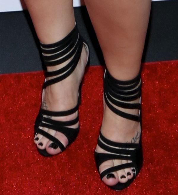 Demi Lovato wearing Miu Miu sandals