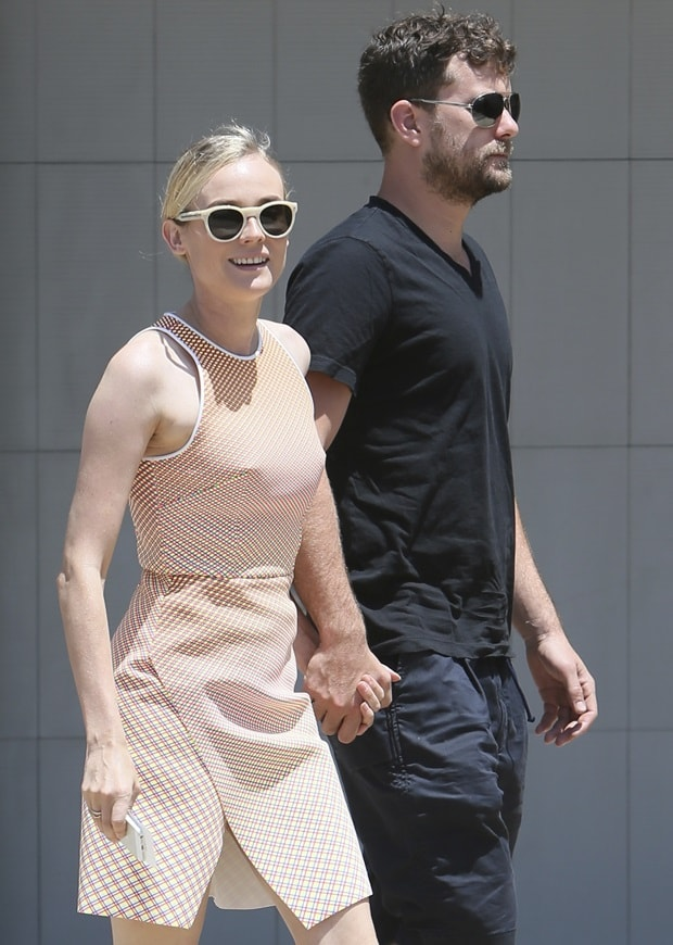Diane Kruger and Joshua Jackson seen at Joel Silvers Memorial Day party in Malibu on May 26, 2014