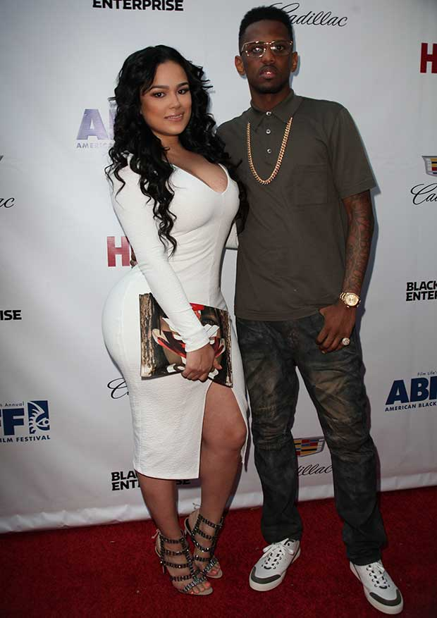 Emily B and Fabolous at the 'Think Like a Man Too' premiere during the 2014 American Black Film Festival at SVA Theatre in New York City on June 19, 2014
