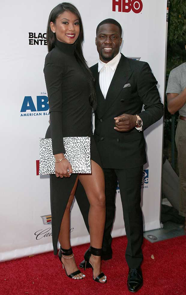 Eniko Parrish and Kevin Hart at the 'Think Like a Man Too' premiere during the 2014 American Black Film Festival at SVA Theatre in New York City on June 19, 2014