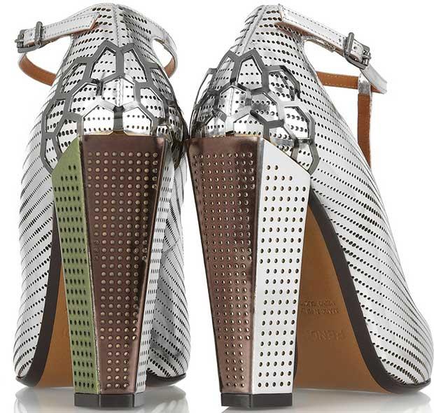 Fendi-Metallic-leather-T-bar-pumps-2