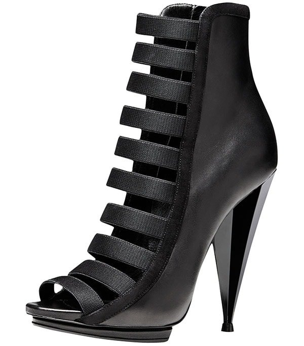 "Gucci ""Olimpia"" High-Heel Booties in Black"
