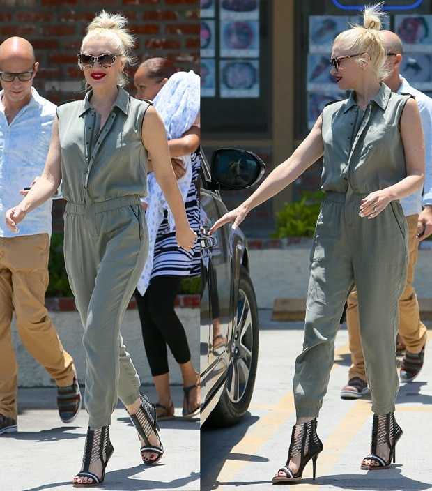 Gwen Stefani spotted outside Jesun Acupuncture Clinic