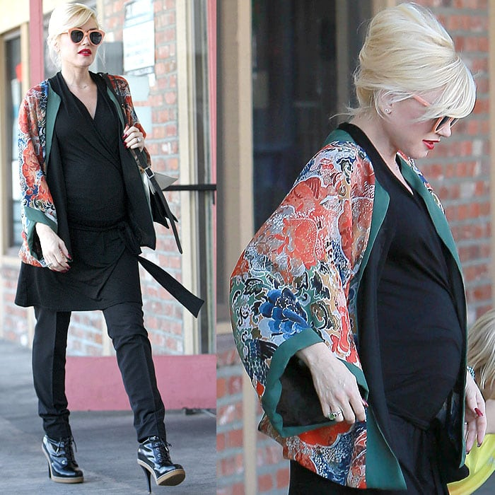 Gwen Stefani loved her Dr. Martens–inspired heels so much that she couldn't give up wearing them in her last pregnancy with son Apollo Bowie Flynn