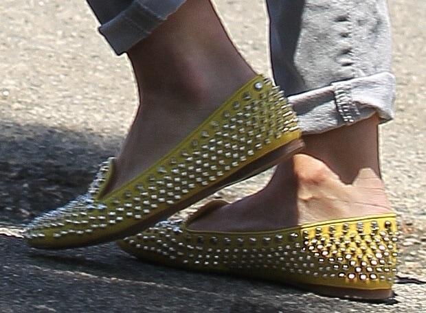 Hilary Duff'sPrada studded smoking slippers
