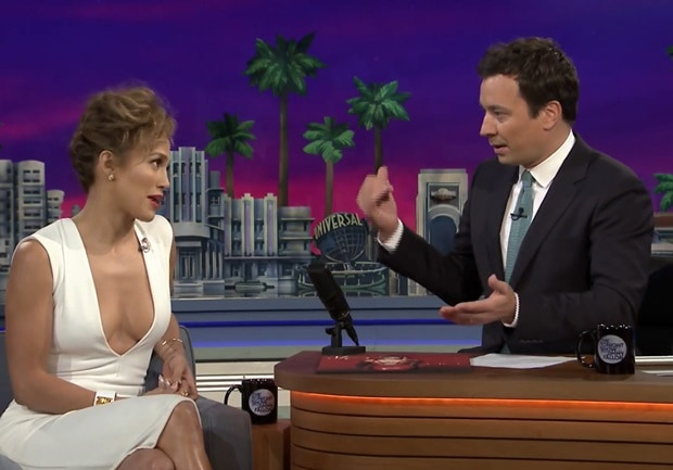 Jennifer Lopez in white form-fitting dress from Solace London