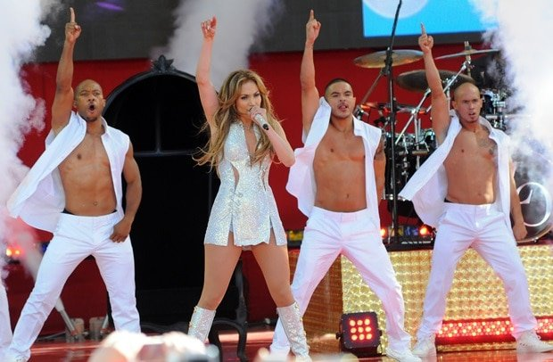 Jennifer Lopez at the 2014 GMA Concert Series held in Central Park in New York City on June 20, 2014