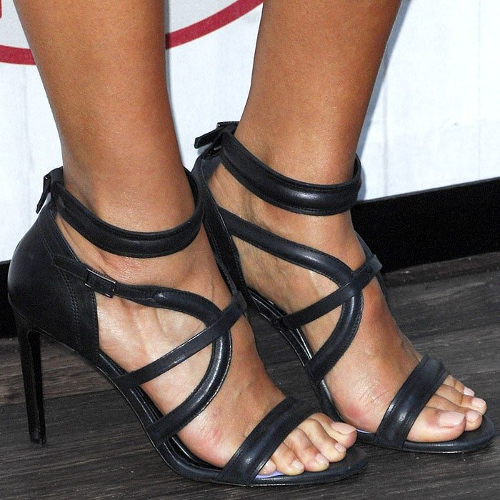 Jessica Alba Hugo Boss sandals