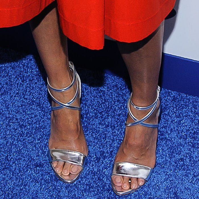 Jessica Alba's sexy feet in Brian Atwood Tamara sandals