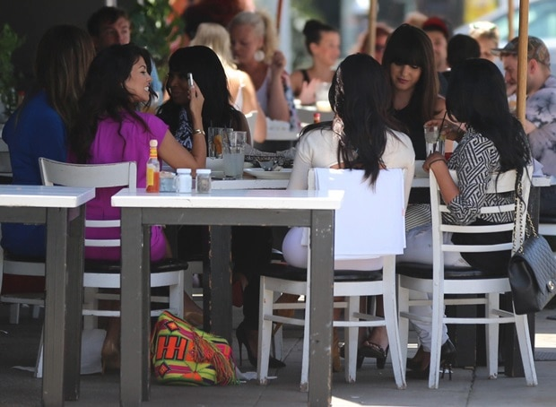 The three Kardashian sisters have lunch