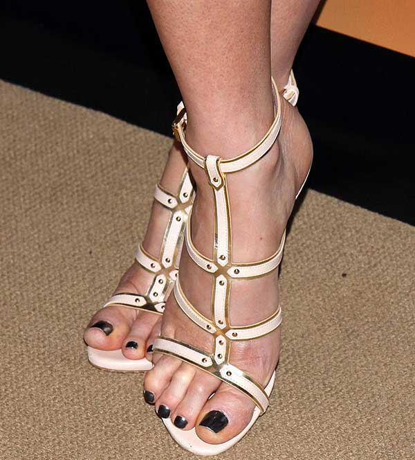 Kate Beckinsale opted for the strappy gladiator stilettos by Casadei