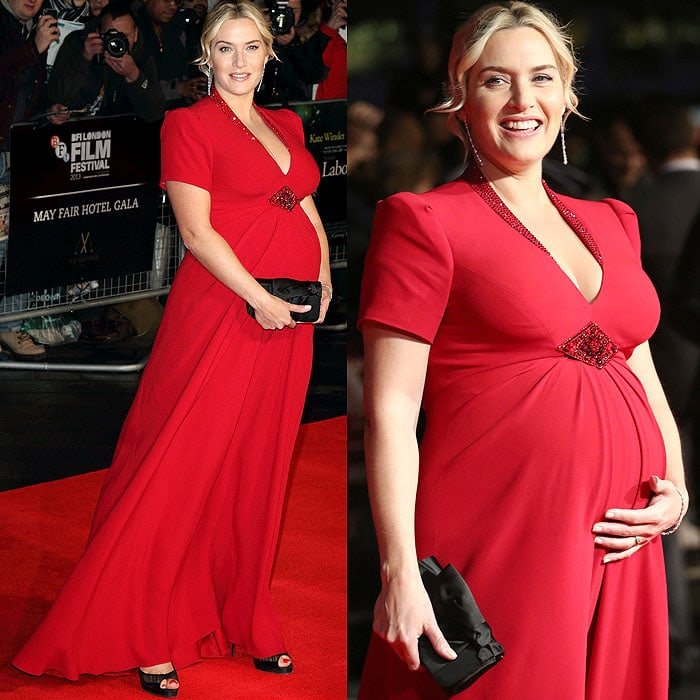 Kate Winslet at the BFI London Film Festival Gala screening of Labor Day at the Odeon Leicester Square in London, England, on October 14, 2013