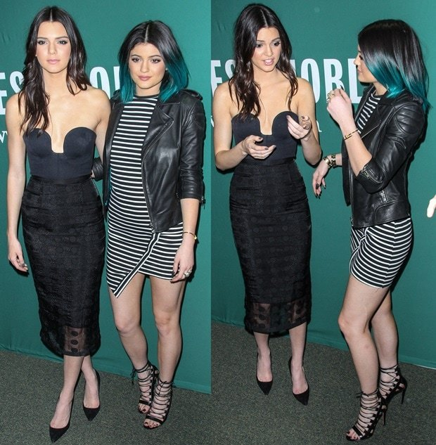 Kendall Jenner and Kylie Jenner at Barnes & Noble on Union Square in New York City on June 4, 2014