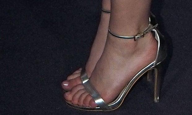 Kiernan Shipka wearing Aldo sandals