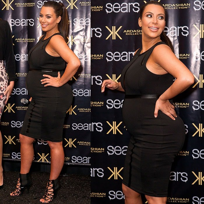 Kim Kardashian at an in-store appearance to launch their Kardashian Kollection spring 2013 clothing line at Sears in Houston, Texas, on May 4, 2013