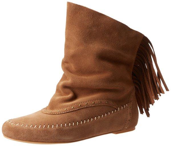 Koolaburra Becca Fringe Slouch Boots in Chestnut