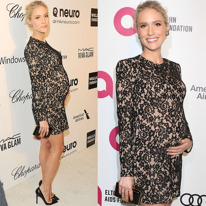 Kristin Cavallari and her slim figure snap in and out of pregnancy, so stiletto heels are no big deal in comparison
