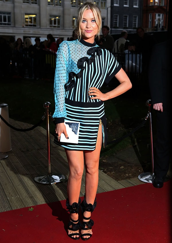 Laura Whitmore at the Glamour Women of the Year Awards 2014 at Berkeley Square Gardens in London, England, on June 3, 2014