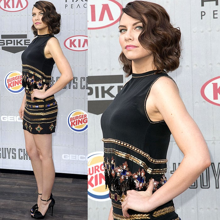 Lauren Cohan striking fierce poses at Spike TV's Guys' Choice Awards 2014