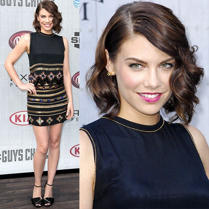 Lauren Cohan at Spike TV's Guys' Choice Awards 2014 held at Sony Pictures Studios in Culver City, California, on June 7, 2014