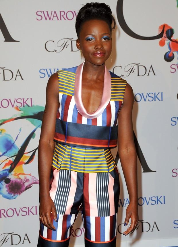 Lupita Nyong'o at the 2014 CFDA Fashion Awards held at Alice Tully Hall at Lincoln Center in New York City on June 2, 2014
