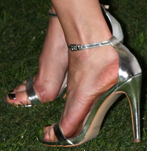 Malin Akerman wearing Aldo sandals