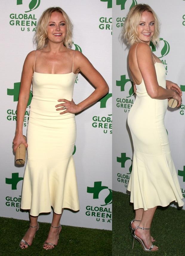 Malin Akerman wearing a Wes Gordon spring 2014 dress