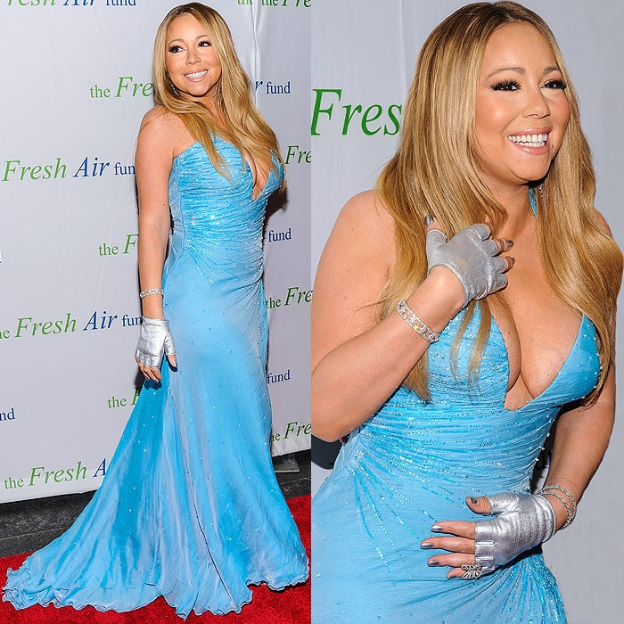 Mariah Carey at the 2014 Fresh Air Fund Honoring Our American Hero Gala at Pier Sixty at Chelsea Piers in New York City on May 29, 2014