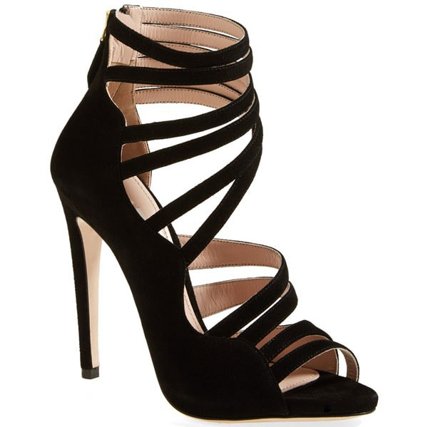 Miu Miu Asymmetrical Strappy Sandals