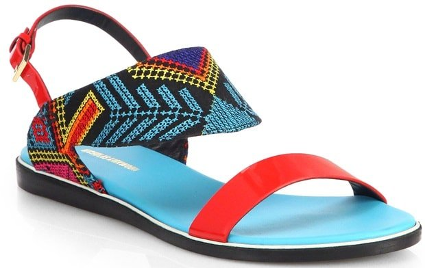 Nicholas Kirkwood Blue Mexican Pink Embroidered Sandals