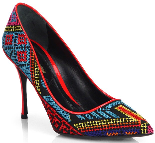 Nicholas Kirkwood Multicolor Mexican Blue Embroidered Pumps