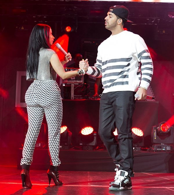 Nicki Minaj and Drake at Summer Jam